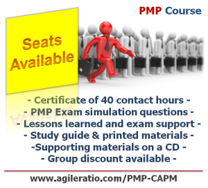 PMP Course Seats Available
